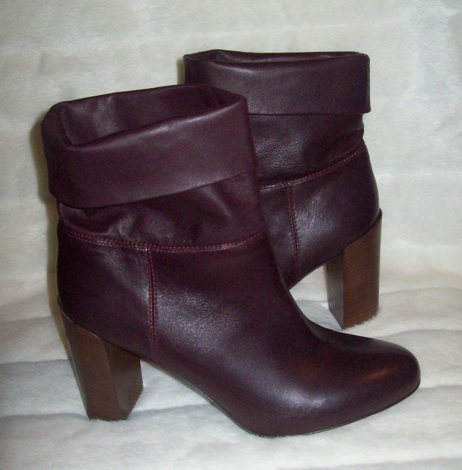 VINCE ANKLE ANKLE ANKLE BOOTS LEATHER MADE IN ITALY SIZE 8.5M 39.5 EUR  498 793de4