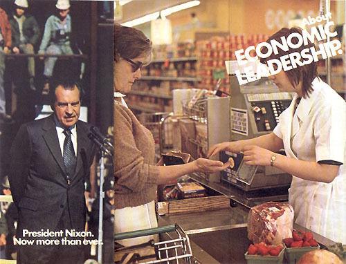 1446 Official 1972 Reelect Richard Nixon Brochure ECONOMY