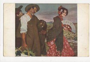 Ign-Zuloaga-Ein-Pikantes-Wort-Vintage-Postcard-245a