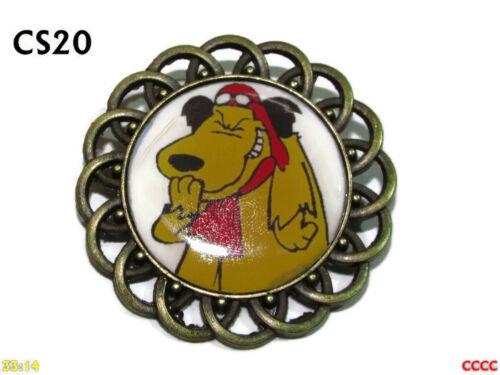 Steampunk broche insignia con Pin DIBUJOS ANIMADOS Perro Muttley Wacky Races #CS20