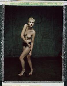 OOAK-Original-Fuji-FP-100C-Instant-Instax-Polaroid-Photo-Art-Nude-Naked-Women