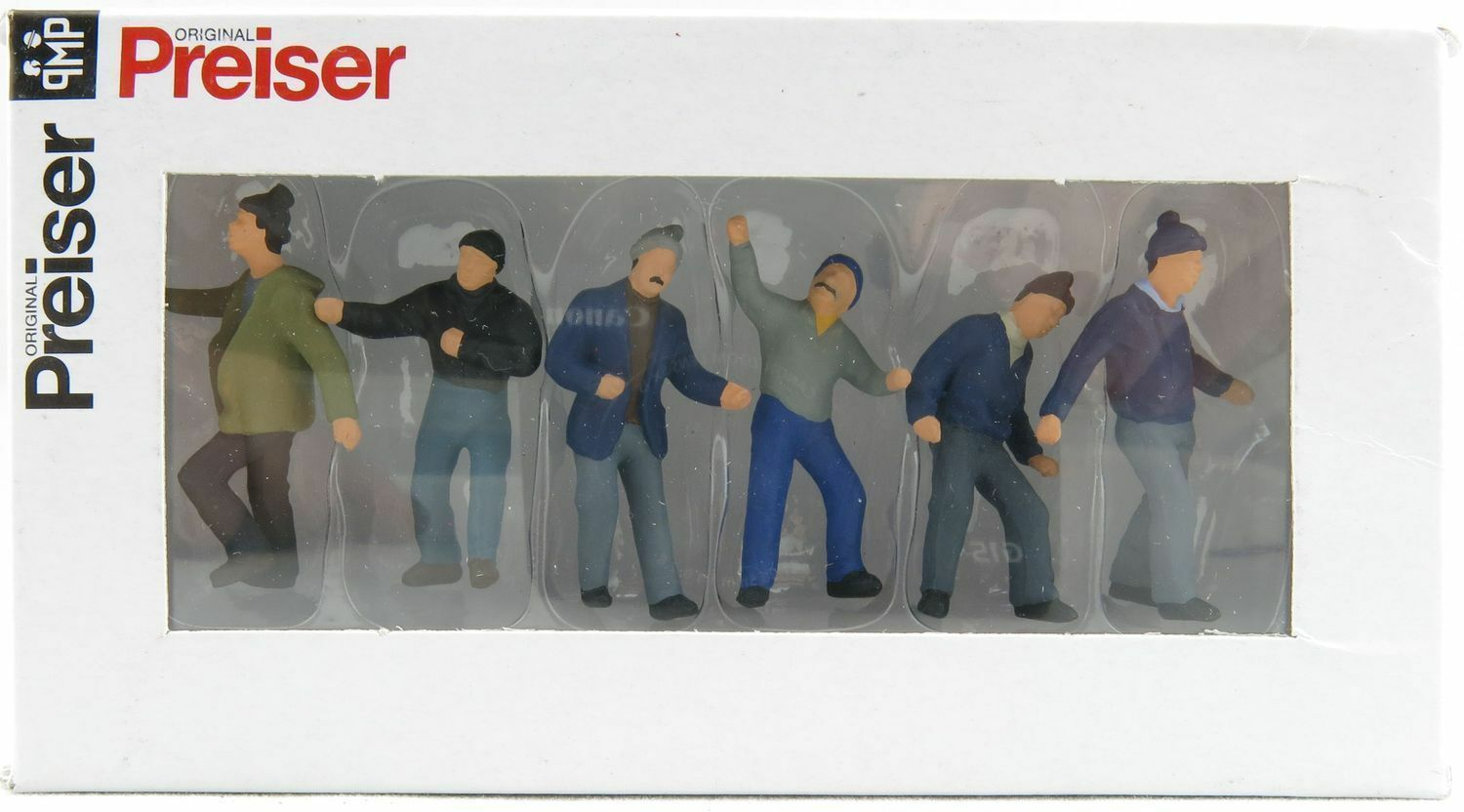 Construction Worker Figurine Set-1 50 SCALE by Preiser  68211