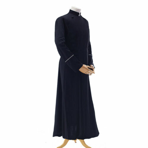 Cassock Robe Gown Clergyman Vestment Ritual Robe For Roman Adult Man Priest