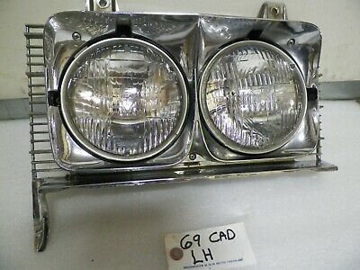 Headlight Set For 97-99 Cadillac DeVille Left and Right With Bulb 2Pc