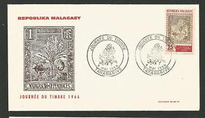 Fdc Journée Du Timbre Madagascar Répoblika Malagasy 1966 Tananarive /l1729 PréVenir Le Grisonnement Des Cheveux Et Aider à Conserver Le Teint