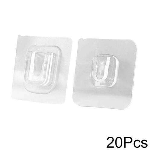 FACTORY OUTLET 2//10//20Pcs Double-sided Adhesive Wall Hooks 50/% !
