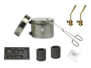 Deluxe-Mini-Kwik-Kiln-Propane-Furnace-Combo-Mold-Torch-Tips-Melting-Gold-Silver