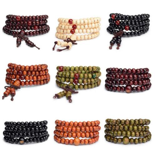 108 Prayer Tibetan 6mm India Wrist Buddhist Beads Mala Bless Bracelet Necklace