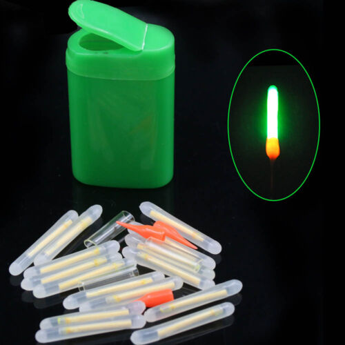 Glow Glo-Sticks Fishing Fluorescent Lightstick Light Night Float Rod Dark 20x
