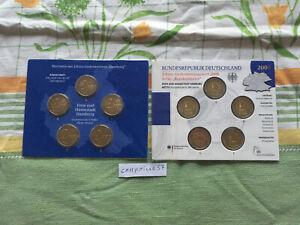 bu 5 x 2 euro commemorative allemagne 2008 5 atelier a d f g j