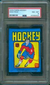1979-80-Topps-HOCKEY-Unopened-Wax-Pack-PSA-8-Low-Pop-Gretzky-Rookie-Card-Year
