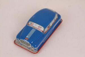 Huki Car HK-569 Blue Friction Drive Tin Toy