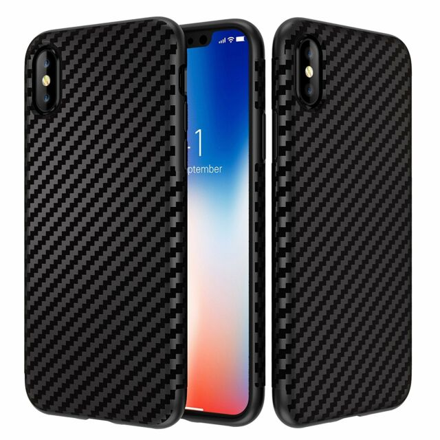 0 3mm Ultra Thin Slim Matte Carbon Fiber Hard Back Case Cover For Apple  iPhone X