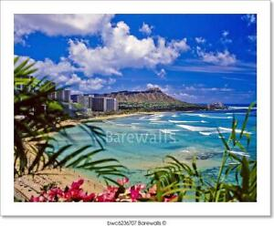 Waikiki Beach And Diamond Head Art Print Home Decor Wall Art Poster C Ebay