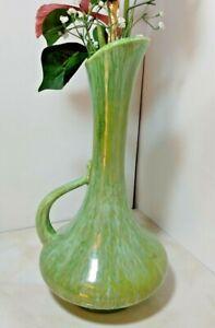 Mid-century vintage greenish glaze ceramic Royal Haeger long neck vase USA euc!