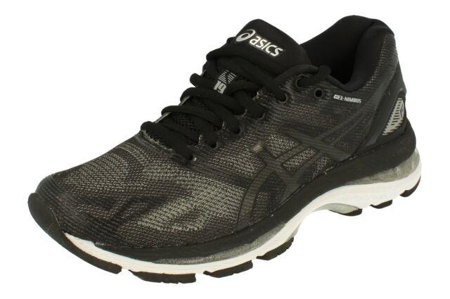sneakers for cheap 79153 af8d6 ASICS Gel-nimbus 19 Women's Ladies Running Shoes Black Onyx Silver  T750n-9099 UK 4 5