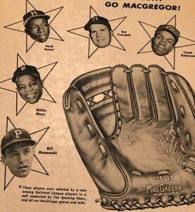 XL-AD-1959-McGREGOR-WILLIE-MAYS-HANK-AARON-BILL-MAZEROSKI-ROBINSON-BASEBALL-HOF