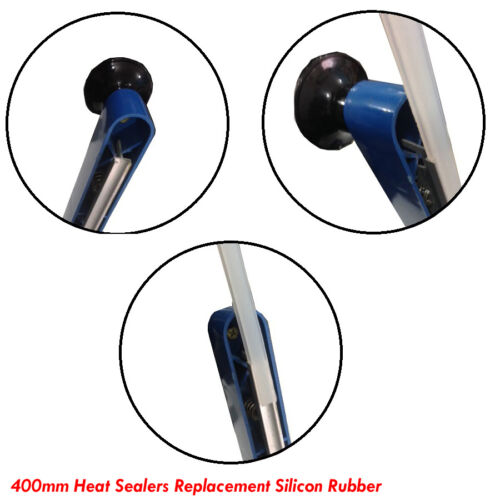 2 X 400 mm Silicon Goma para impulso de Calor Sellador de repuesto pieza de repuesto Selladores