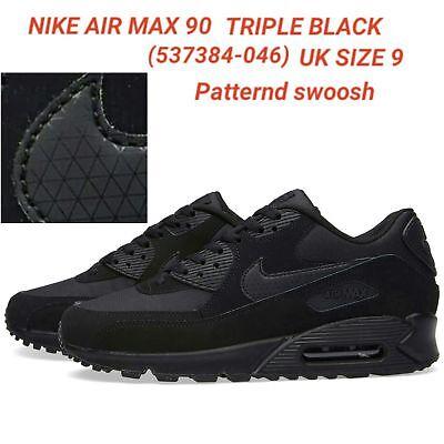 Nike AIR MAX 90 TRIPLE NERO 537384 046 Uomo Sneaker UK 9 US Taglia 10 | eBay