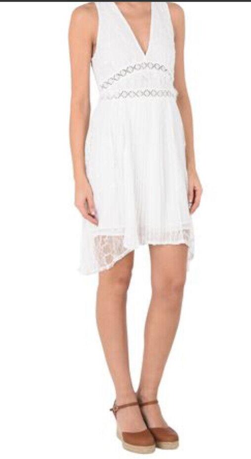 Nuovo Nuovo Nuovo con etichette Foxiedox Donna Small  10 bianco sporco senza maniche Lace Mini Dress  Babette  78e976