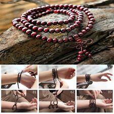 Neu Sandalwood buddhistischen Buddha 108 Gebetskette Mala Armband-Halskette 6MM