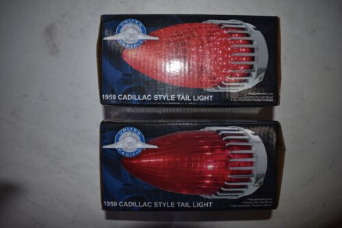 2,Taillight Brake Stop Lamp Red Bulbs Assembly Rat Rod 59 1959 Cadillac 59 Cad