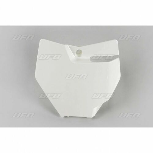 UFO KTM Motocross MX Front Number Plate Board SX 85 2018-2019 White
