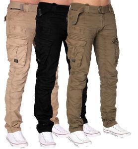 Geographical-Norway-Hommes-Pantalon-a-poches-Loisirs-TROUSER-CARGO-PANTALON-ARMY-Pantalon