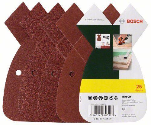 Bosch DIY 25tlg Schleifblatt-Set verschiedene Materialien für Multischleif