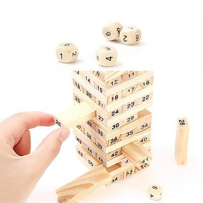 1 Set Kids Educational Toys Wood Tumbling Tower Board Building Block