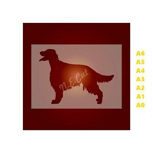 IRISH-SETTER-Dog-Stencil-350-micron-Mylar-not-Hobby-stuff-DOGS071