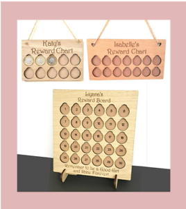 PERSONALISED-CHILDENS-CHILDS-REWARD-CHART-BOARD-1-COIN-POCKET-MONEY-SAVING-KIDS