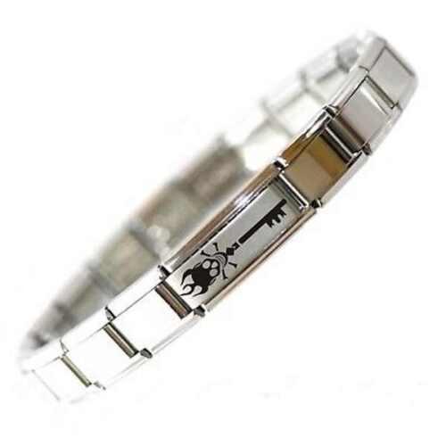 EMO Daisy Charm Fits Nomination Italian Charm Starter Bracelet SKELETON KEY
