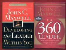 2x John C. Maxwell: Developing the Leader Within You + The 360 degree Leader