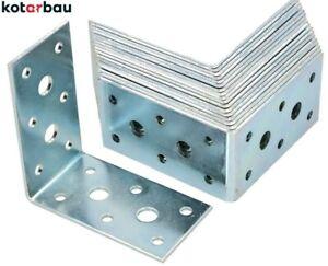 Winkelverbinder 75 x 75 x 40 mm Stahl Bauwinkel Holzverbinder Möbelwinkel