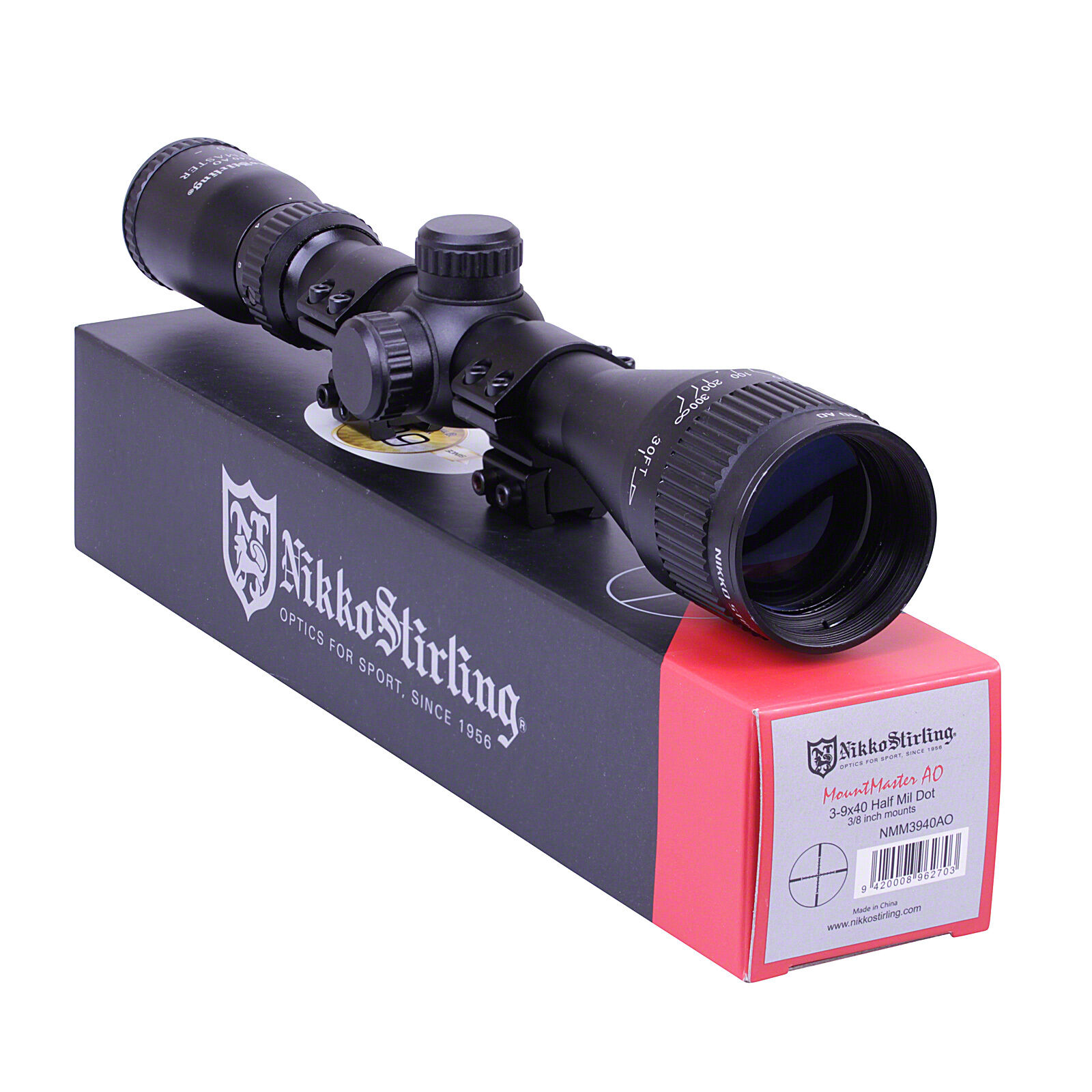 Nikko MOUNTMASTER 3-9x40 PX AO Parallax Zoom Rifle SCOPE Sight +3 8 11mm MOUNTS