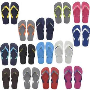 1da0f36c76daf Havaianas Flip flop Brasil Logo Men Rubber Sandals Women Size UK 3 4 ...