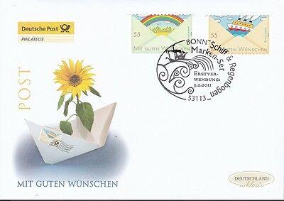 Brd 2011 Deutsche Post Fdc Minr. 2848-2849 Selbstklebend Grußmarken