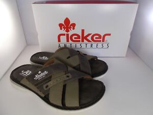 Rieker-Antistress-Green-Combination-Sandals-25199-53-Men-039-s-Size-10-US-New-In-Box