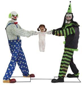 Clowns-Tug-of-War-Animated-Prop-Black-Green-Halloween-Animatronic-Lifesize