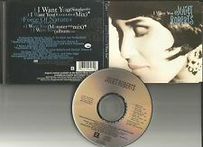 JULIET ROBERTS I want you 5TRX w/RARE MIXES EXT & CLUB & EDIT USA CD single 1994