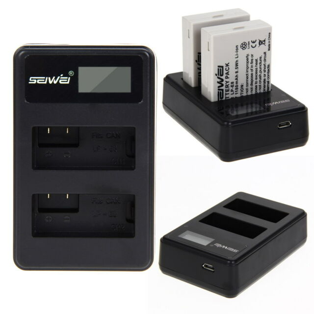 2x Battery + Dual Charger for LP-E8 LPE8 For Canon LP-E8 EOS 700D 650D 600D 550D