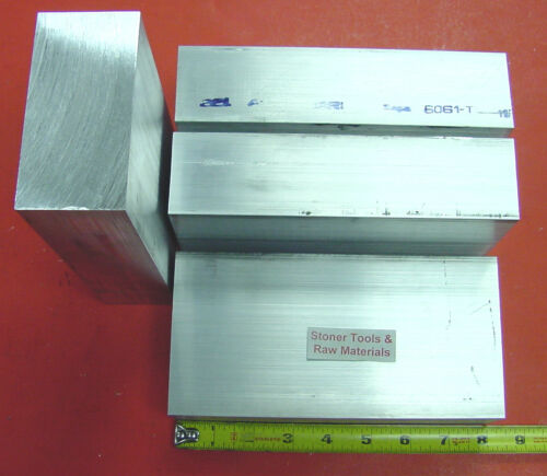 "4 Pieces 2/"" X 4/"" ALUMINUM SOLID FLAT BAR 8/"" long 6061 T6511 Mill Stock 2.00/""x 4/"""