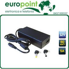 ALIMENTATORE SWITCHING 12Vcc VOLT 5A PER LCD TV E MONITORS CON DUE PLUG INCLUSI