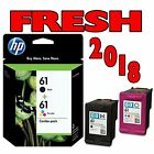 HP 61 BLACK & TRI-COLOR INKJET COMBO - GENUINE, NEW - FRESH 2018 DATES