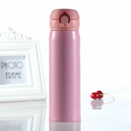500ML Stainless Steel Travel Mug Water Thermos Vacuum Flask Thermal Cup Bottle