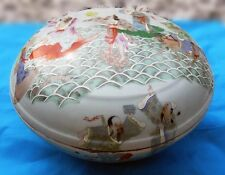 """GORGEOUS CHINESE EXPORT HUGE 12 1/2"""" DOME TOP PORCELAIN COVERED BOWL CIRCA 1895"""