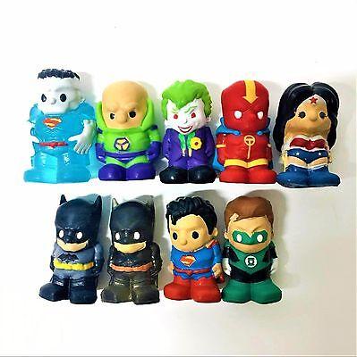 "1.5/"" 9PCS DC COMICS WONDER WOMAN BATMAN JOKER OOSHIES SERIES 2 FIGURE KID TOYS"