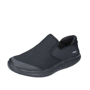 Chaussures Hommes MBT 42,5 Ue à Enfiler Noir Tissu Bh648-42,5