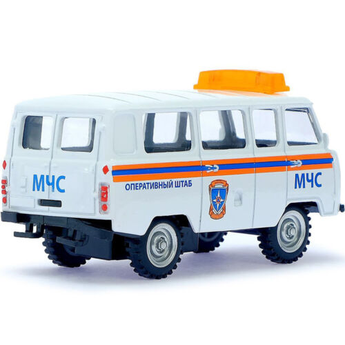 Diecast Vehicles Scale 1:43 Van UAZ 452 Russian Ministry of Emergency Situations
